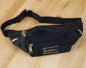 Vintage Europac Neon Logo Fanny Pack With Short Strap
