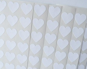 Heart Stickers White Heart Stickers Envelope Seals 108 Valentines Seals Wedding Stickers Wedding Seals