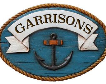 Nautical Decor Personalized Sign