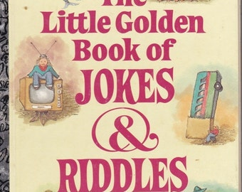 ON SALE The Little Golden Book of Jokes & Riddles -  Vintage Little Golden Book - American Edition - 1980s