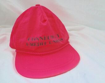 80s Hot Pink Vintage Cap Hat Connecticut Surfer