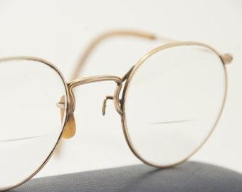 Vintage American Optical Gold Filled Glasses, AO 1/10 12k GF Eyeglasses