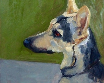 Lara, custom pet portrait oil painting