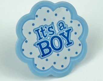It's a Boy Polka Dot Toppers - Set of 12 - SW529