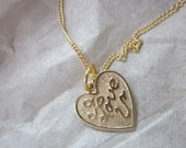 I Love U Necklace for Valentine's Day