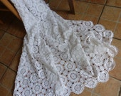 French  Hand Crochet Bedspread, Vintage, Perfect Condition, Circa 1980's