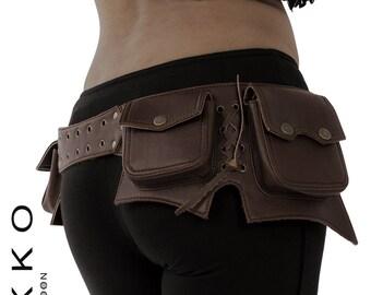 VEGAN LEATHER UTILITY belt, pocket belt, fanny pack, bumbag, STEAMPUNk belt, festival belt, Vlbecs