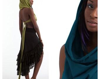 Pixie hood top - assorted colours, elf top, fairy top, psytrance top, STEAMPUNK Top, LCTOHo