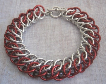 Love Line Bracelet Chain Maille Aluminum Jewelry