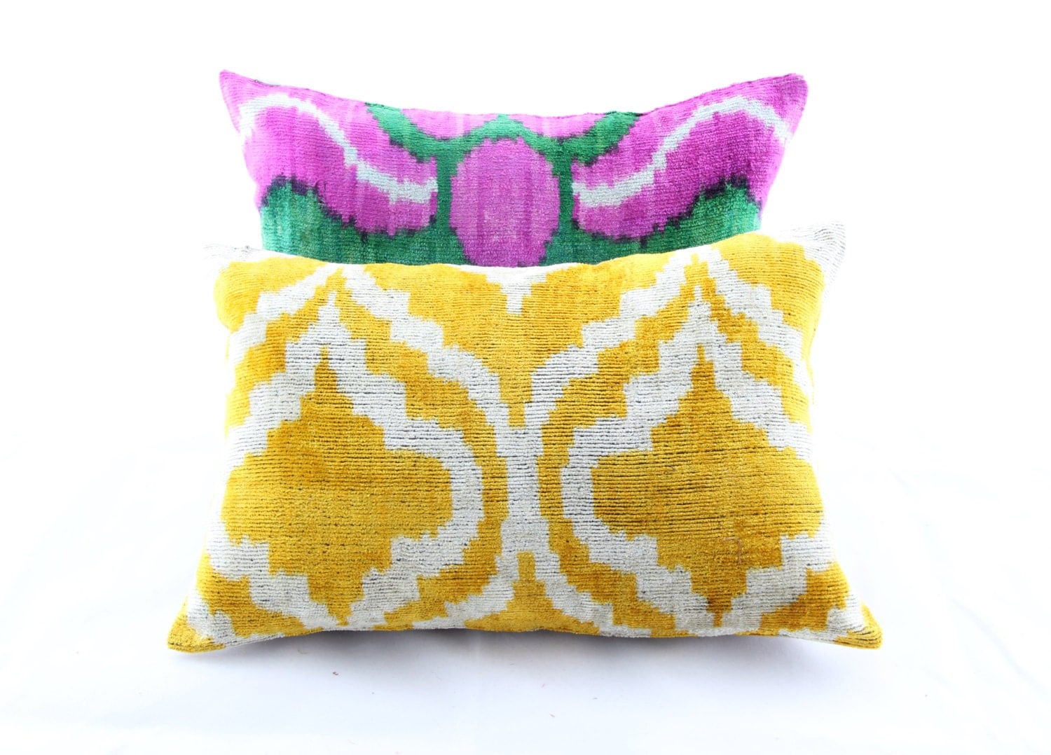 Berzey Pillows /Handmade Velvet ikat Pillows 2 pcs Awesome