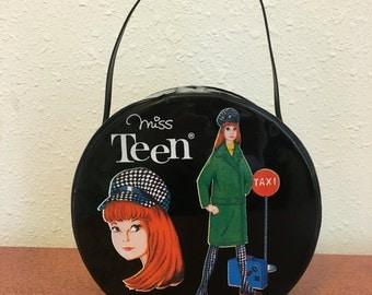 Miss Teen Doll Suitcase, Vintage Doll Case, Vintage Barbie, Vintage Fashion Doll