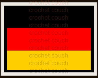 C2C Graph, Germany Flag Placemat , C2C Graph,  Written Word Chart, Germany flag graph, flag c2c, c2c placemat