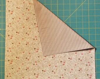 2 ply cotton handkerchief - beige and brown