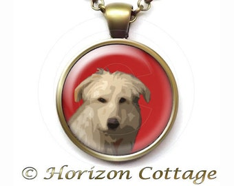 Custom Portrait of Your Dog, Cat, Any Pet, Digitally Painted Pendant, Your Choice of Finish