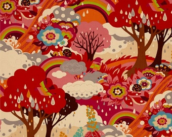 Flying Colors by Momo for Moda - Multi - Clover - 1/2 Yard Cotton Quilt Fabric 516