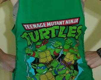 TMNT Ninja Turtles Deconstructed Slashed Tank Top OOAK