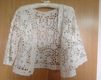 Vintage lace blouse  jacket top
