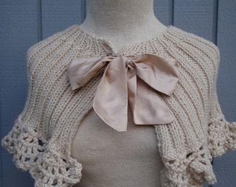 Wedding shawl, Bridal shawl, Wedding accessories, Bridal accessories, bridesmaid gift, knitting shawl, wedding wrap, handmade flower, gift,