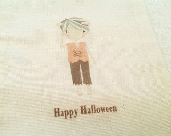Halloween Treat Bags-Mummy party favor sacks-Trick or treat favor bags-5x7
