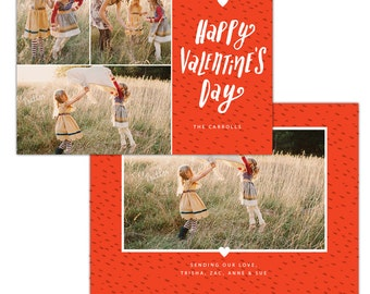 INSTANT DOWNLOAD - Valentine Photocard Template - e1187