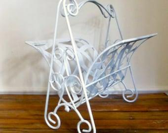 Ornate Metal Folding Magazine Rack