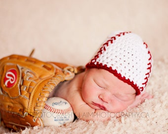 Newborn Baseball Beanie Photography Prop