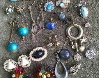 Vintage Earring/Supply Destash