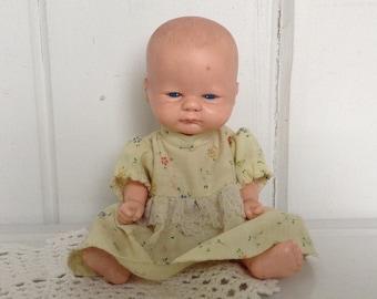 """Vintage Playmates All Vinyl Doll 45 4094 Hong Kong 1988 Jointed 8"""""""
