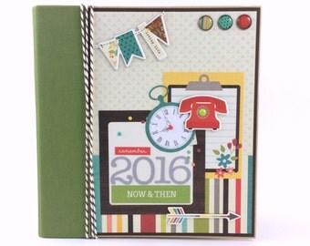 SALE -- 2016 Scrapbook Planner Calendar Kit or Premade Album 6x8 Journal