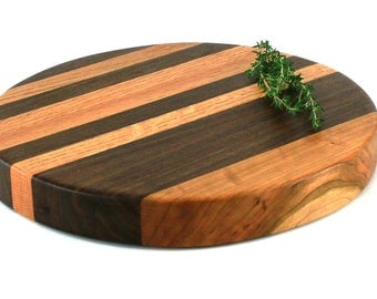 "Round Butcher Block Cutting Board - 12""x1-1/2"" - Ready to Ship"
