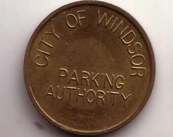 City of Windsor Parking Authority Parking token