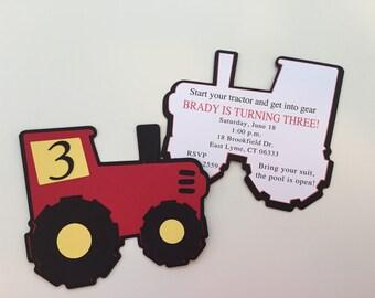 Tractor Invitations