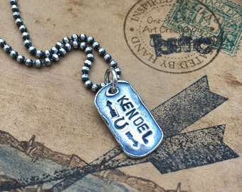 Dog Tags, birthdate, name plates, sterling
