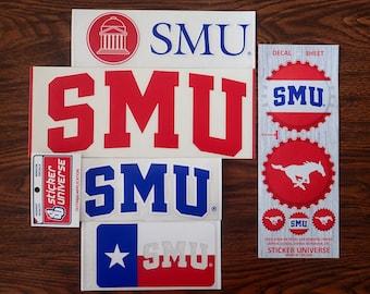 5 Pack Southern Methodist University Decal Mystery Bundle