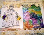 Edwardian Lady, Garden Joy Art Card, Photo Art Card, Art Design Photo Card, Hand Made Art Card, KSonya, FromGlenToGlen, Kathleen Leasure