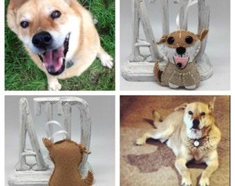 Custom Pet ornament, custom made ornament dog in felt, custom felt dog, personalized gift, dog memorial ornament, dog keepsakes decor