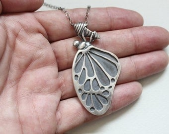 Insect jewelry women Butterfly necklace Best statement necklace Butterfly jewelry Mom birthday necklace Nature inspired Forest necklace gift