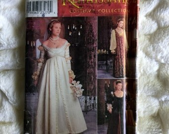 Simplicity Fashion Costume Pattern Misses 20 piece Renaissance Gown #0657 Sewing Fashion UC FF size 10-12-14