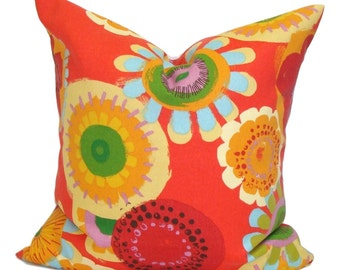 FLORAL OUTDOOR PILLOW.16x16 inch.Pillow Cover.Decorative Pillow Covers.Housewares.Floral Outdoor Cushion. Outdoor Accent Pillow. Cushion.cm