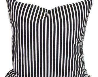 BLACK Pillow Covers, Black Decorative Pillow, Throw Pillow, Striped Pillows, Pillow, Pillow Covers, All Sizes, Pillow Sham, Euro, Cushion