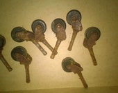 Eight Vintage Small Casters