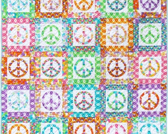 Peace Quilt Pattern PDF by Emma Jean Jansen - Immediate Download