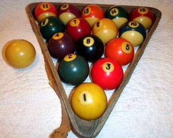 Bakelite Billiard Balls Complete Set