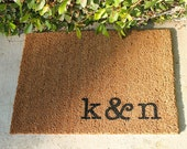 PERSONAL INITIALED  Doormats …  Personalized & Hand Painted with Your Initials ... 2 SIZES