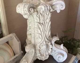 Vintage Plaster Pedestal Plinth Column Wedding Display