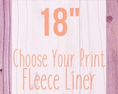 "Choose Your Print Fleece Cage Liner - 18"" - Choose Your Size"
