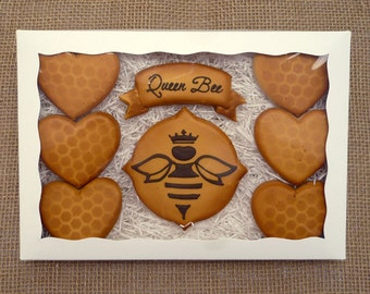 Decorated Cookies - Mother's Day - Queen Bee Gift Box