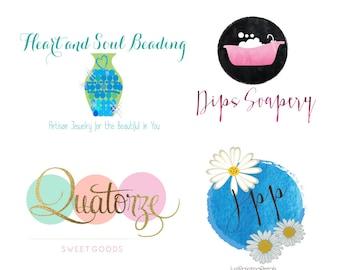 Logo Design - Business Branding - Web Logo - Social Media  - Blog Logo - Cupcake Logo - Custom Logo - Photography Logo - Party Logo