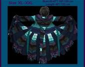 eLf cOAT, elf sweater, sweater coat, size XL - XXL, sweater coat, pixie, hoodie, costume, gypsy sweater, patchwork coat, sweater dress, ooak