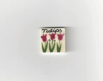 Clearance - Tulip Seed Pack Button by Mill Hill, #86061UT